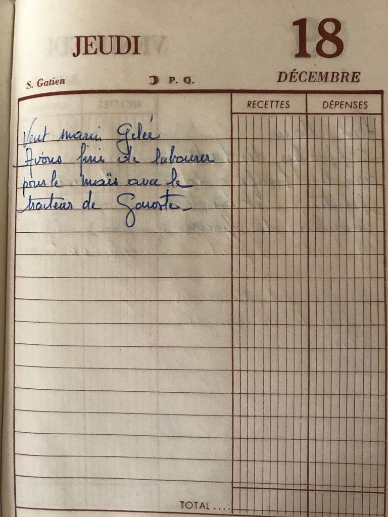 Jeudi 18 décembre 1958 - les labours pour le maïs