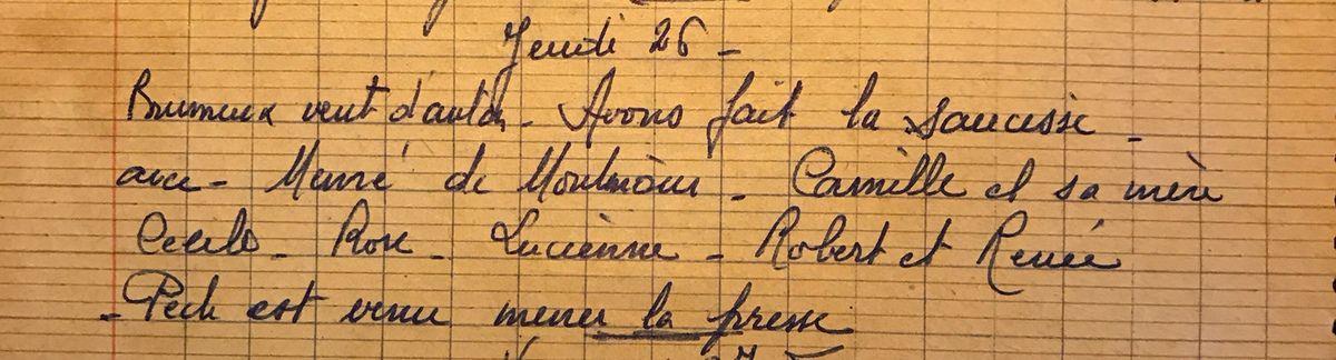 Jeudi 26 février 1959 - La saucisse