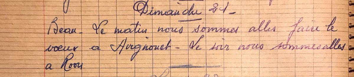 Dimanche 21 juin 1959 - Faire les voeux à Avignonet