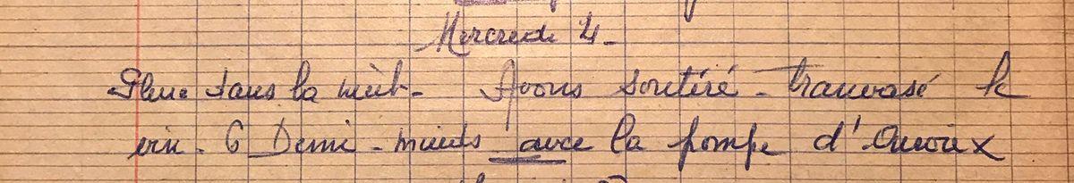 Jeudi 4 novembre 1959 - 6 demi-muids de vin