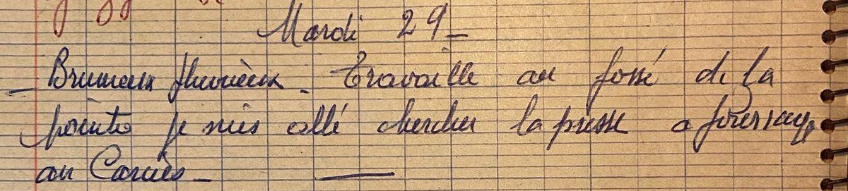 Mardi 29 décembre 1959 - la presse à fourrage du Carciès