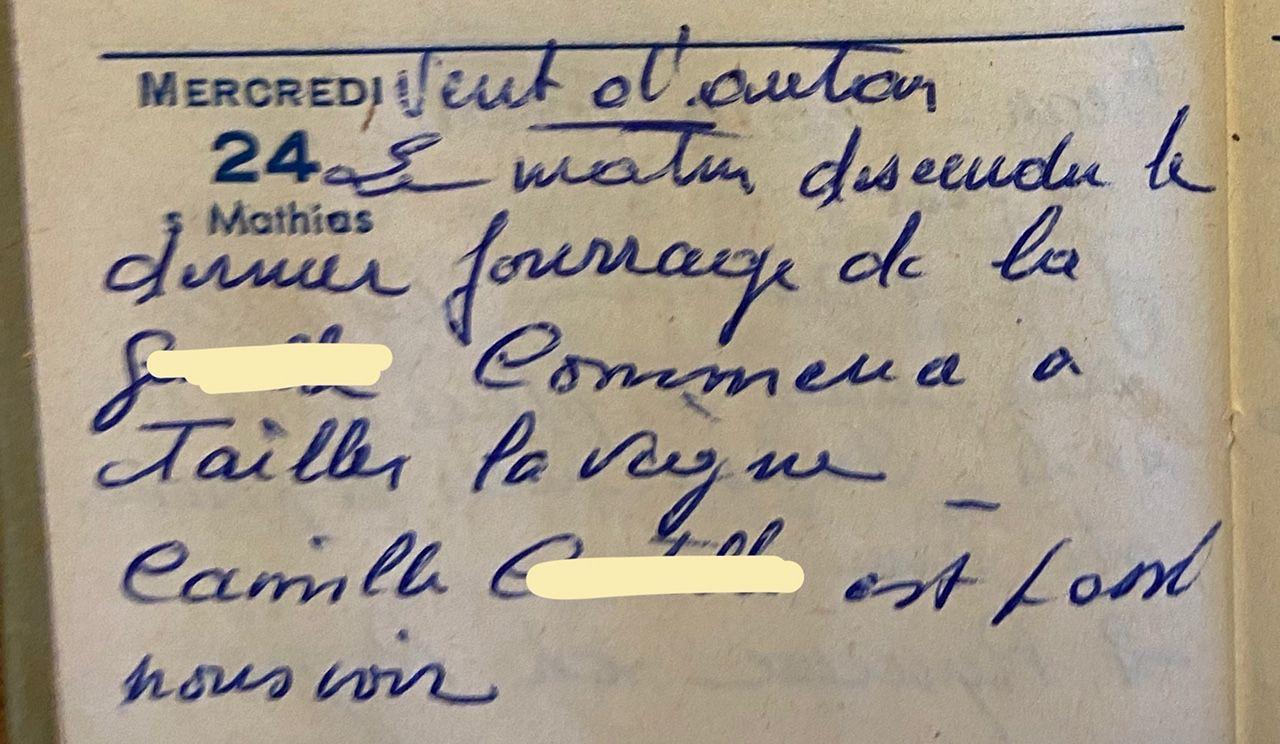 Mercredi 24 février 1960 - tailler la vigne