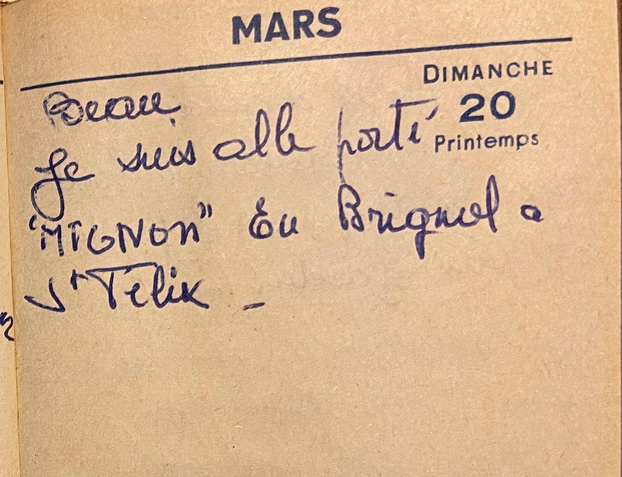 Dimanche 20 mars 1960 - Accompagner Mignon