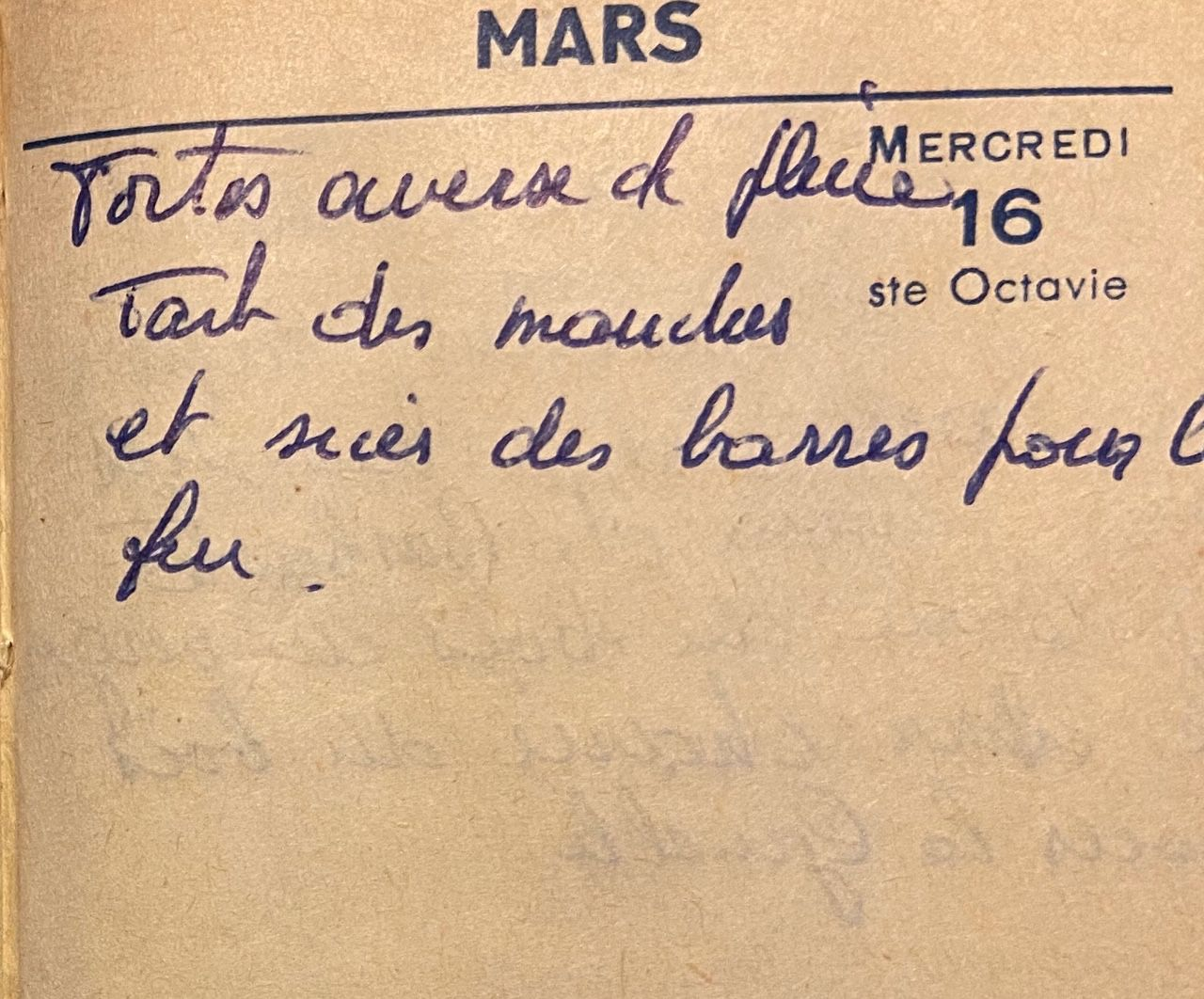 Mercredi 16 mars 1960 - Scier