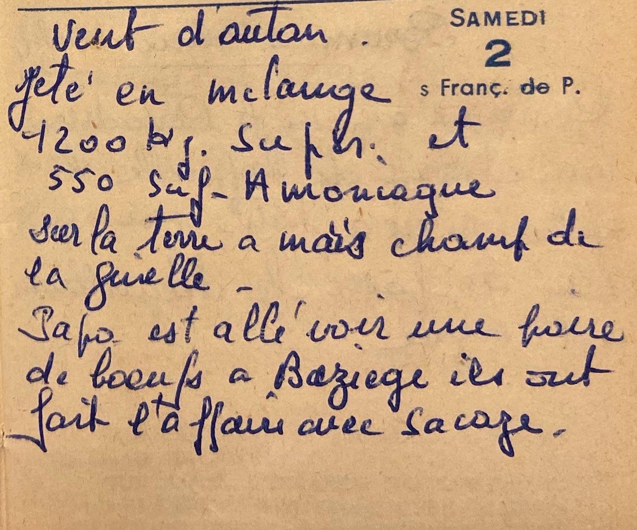 Samedi 2 avril 1960 - acheter une paire de boeufs
