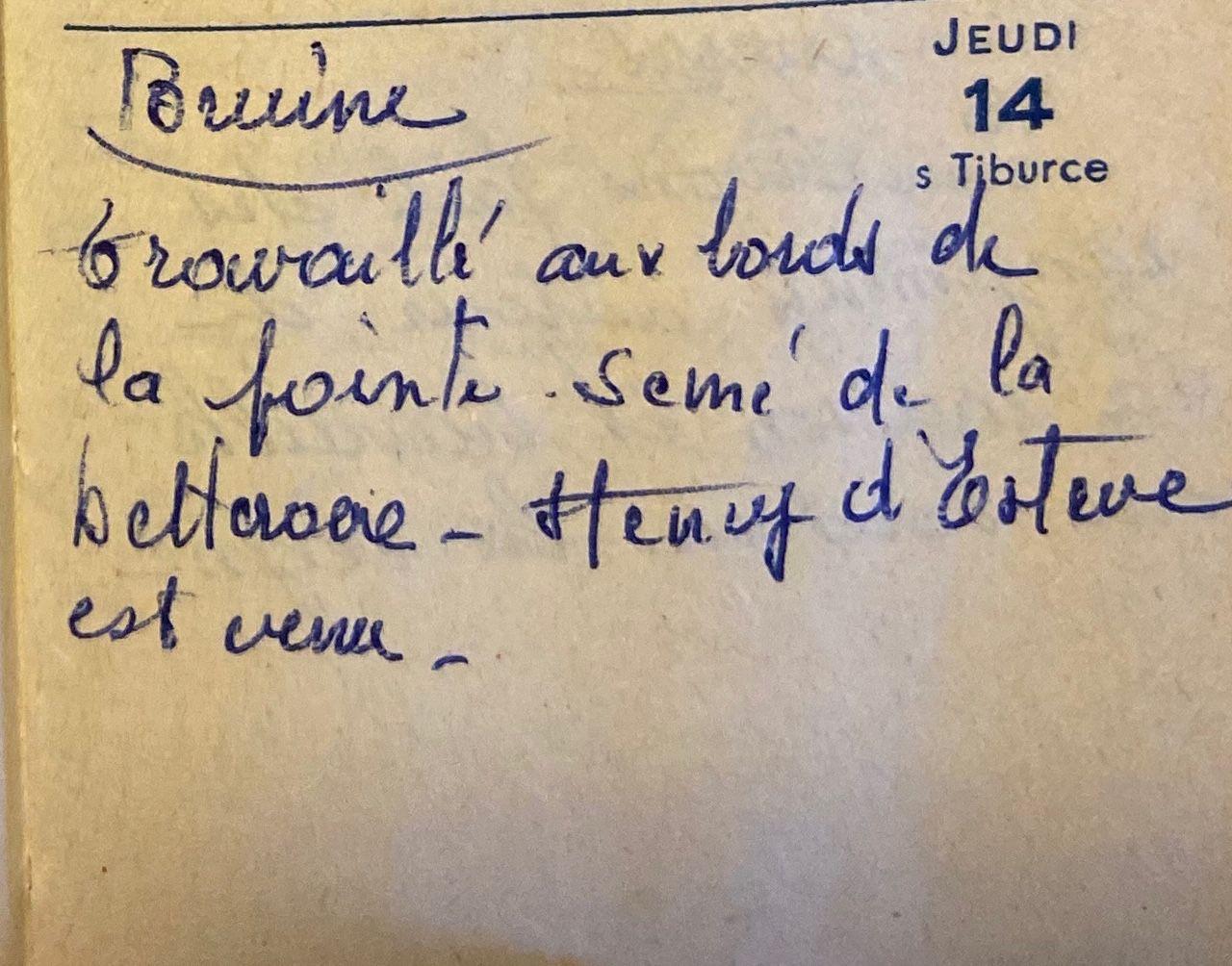 Jeudi 14 avril 1960 - semis de betterave
