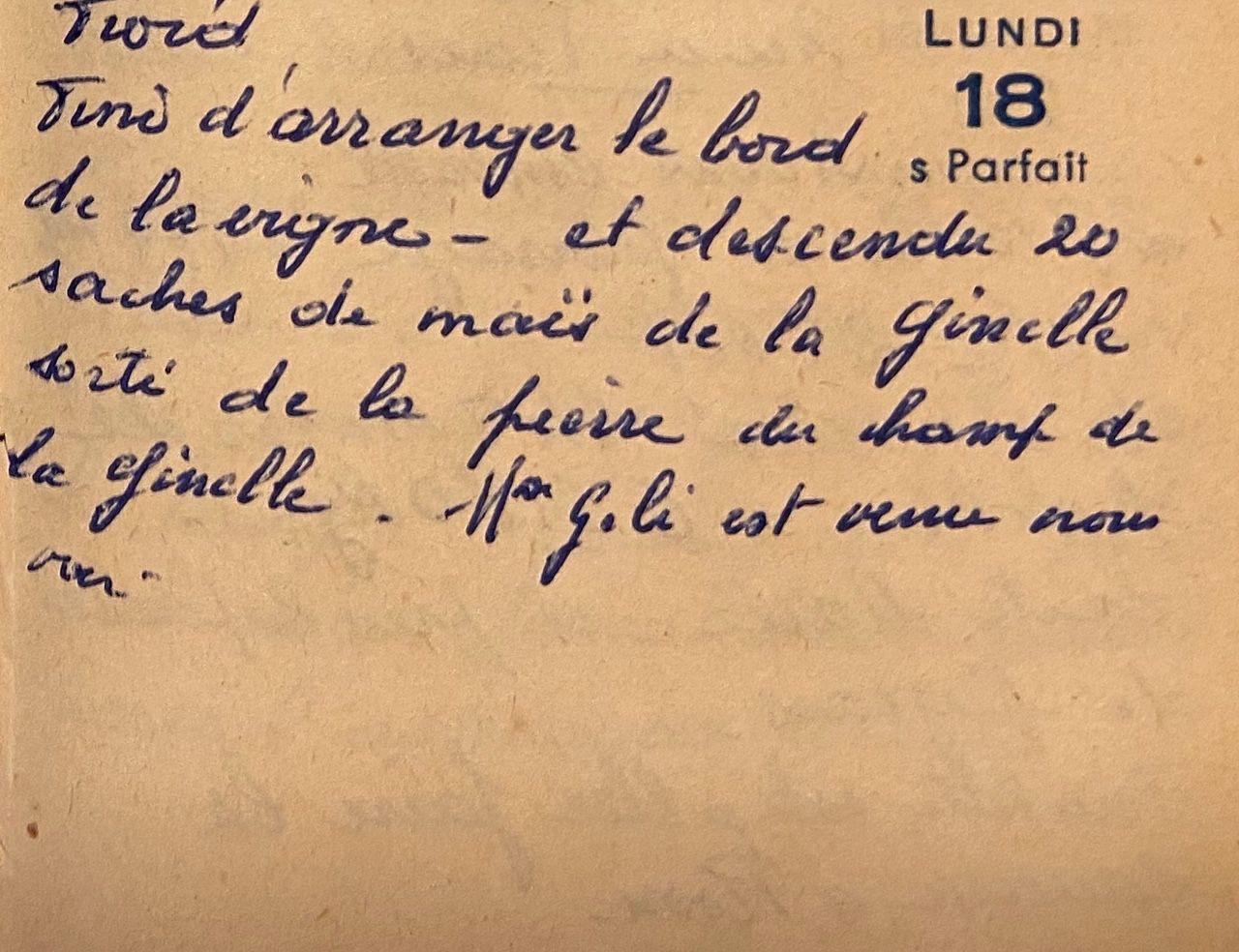 Lundi 18 avril 1960 - les saches de maïs
