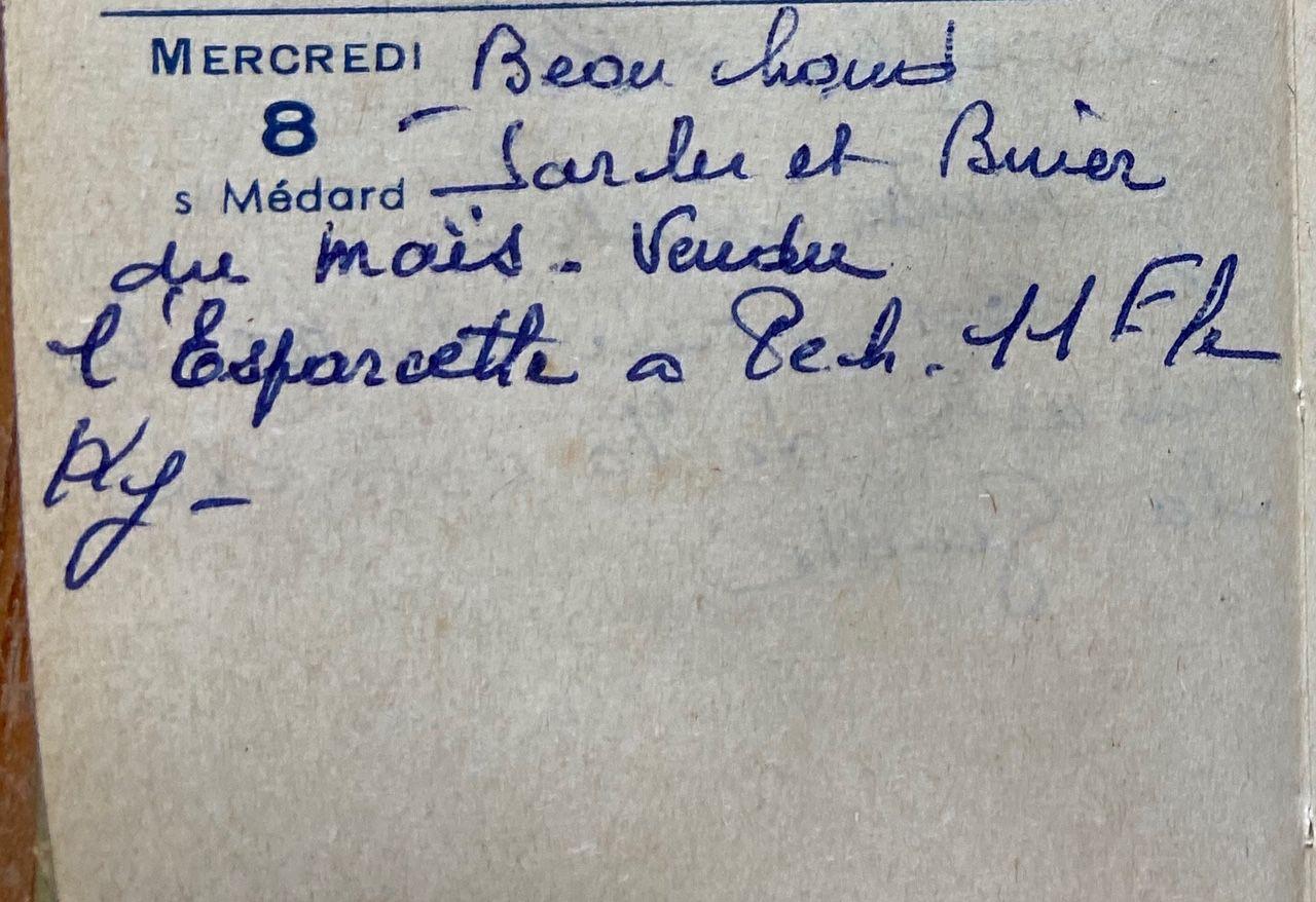 Mercredi 8 juin 1960 - vendre de l'esparcette