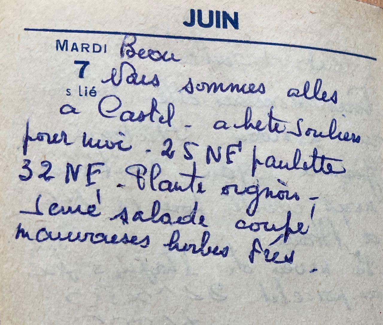 Mardi 7 juin 1960 -  les souliers neufs de Castelnaudary