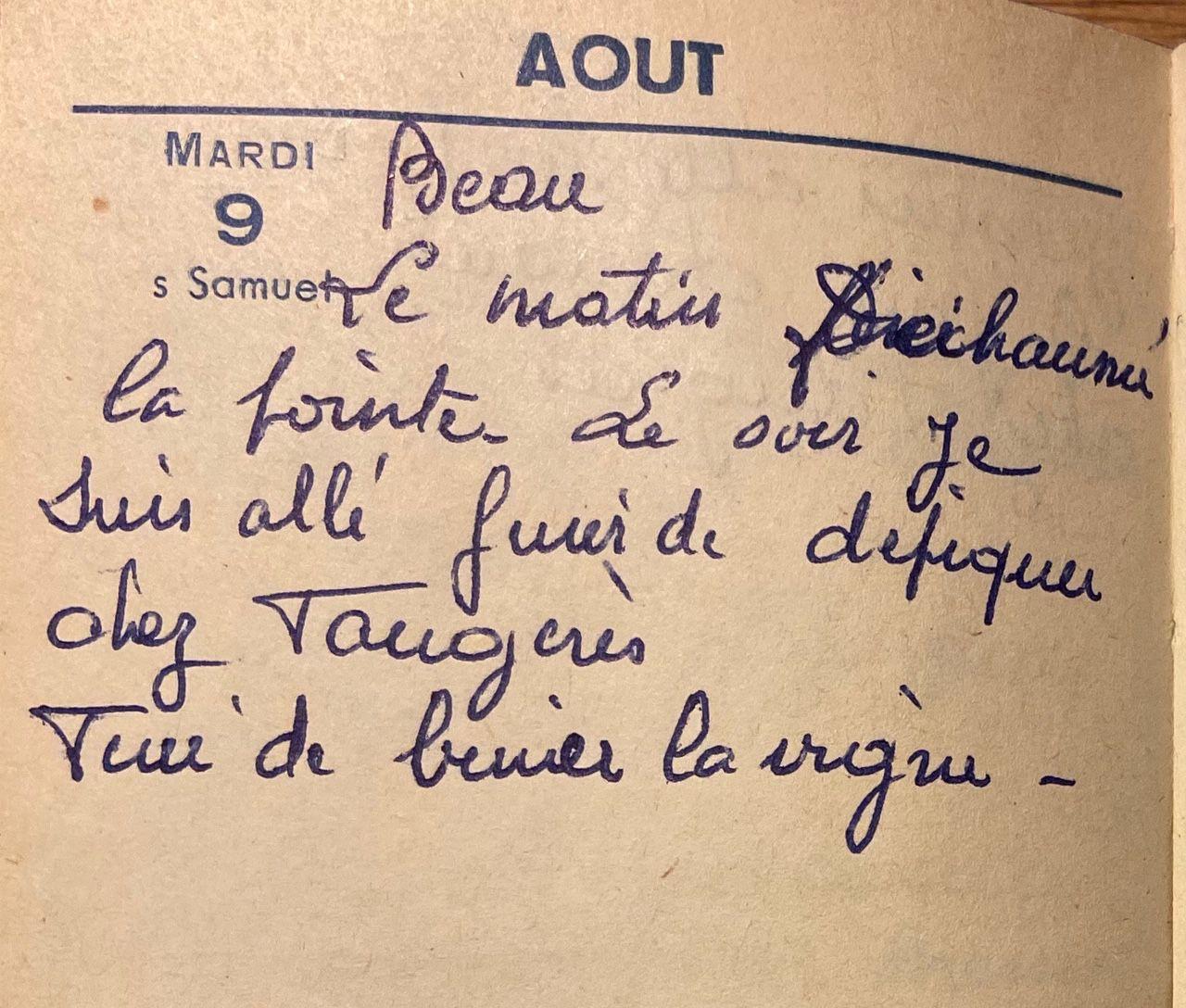 Mardi 9 août 1960 - la vigne et le blé