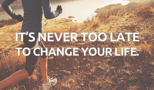 Un shoot de motivation et de run ; Il n'est jamais trop tard pour changer ta vie