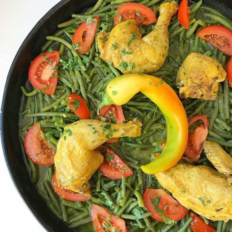 galiña de feixón verde forno