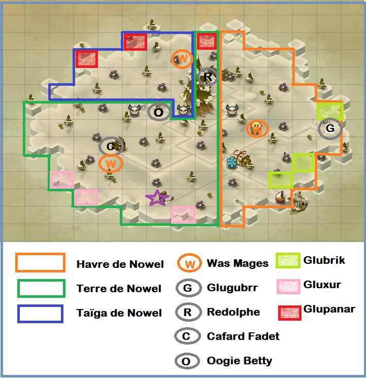 Carte l'île de Nowel