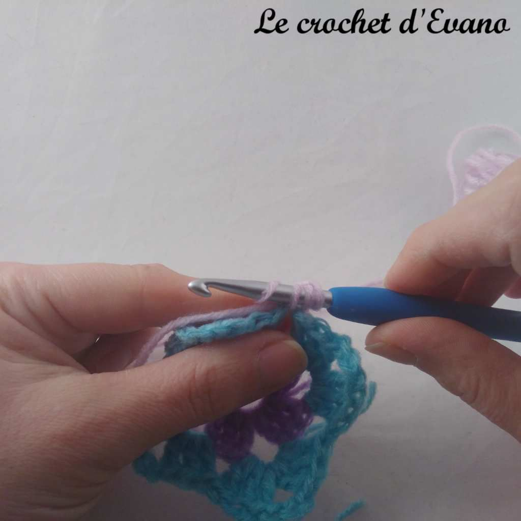technique crochet knotless double crochet en français