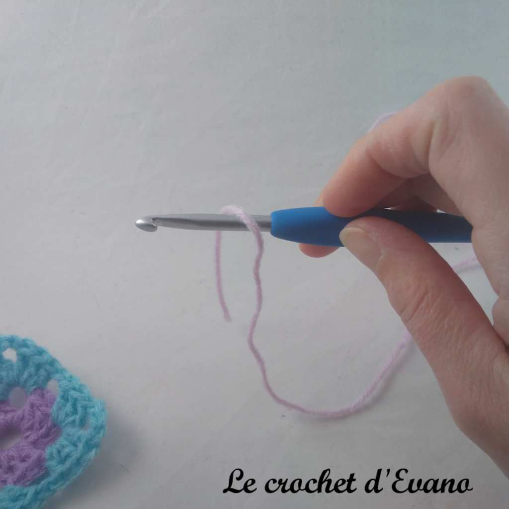 technique crochet knotless standing single crochet en français