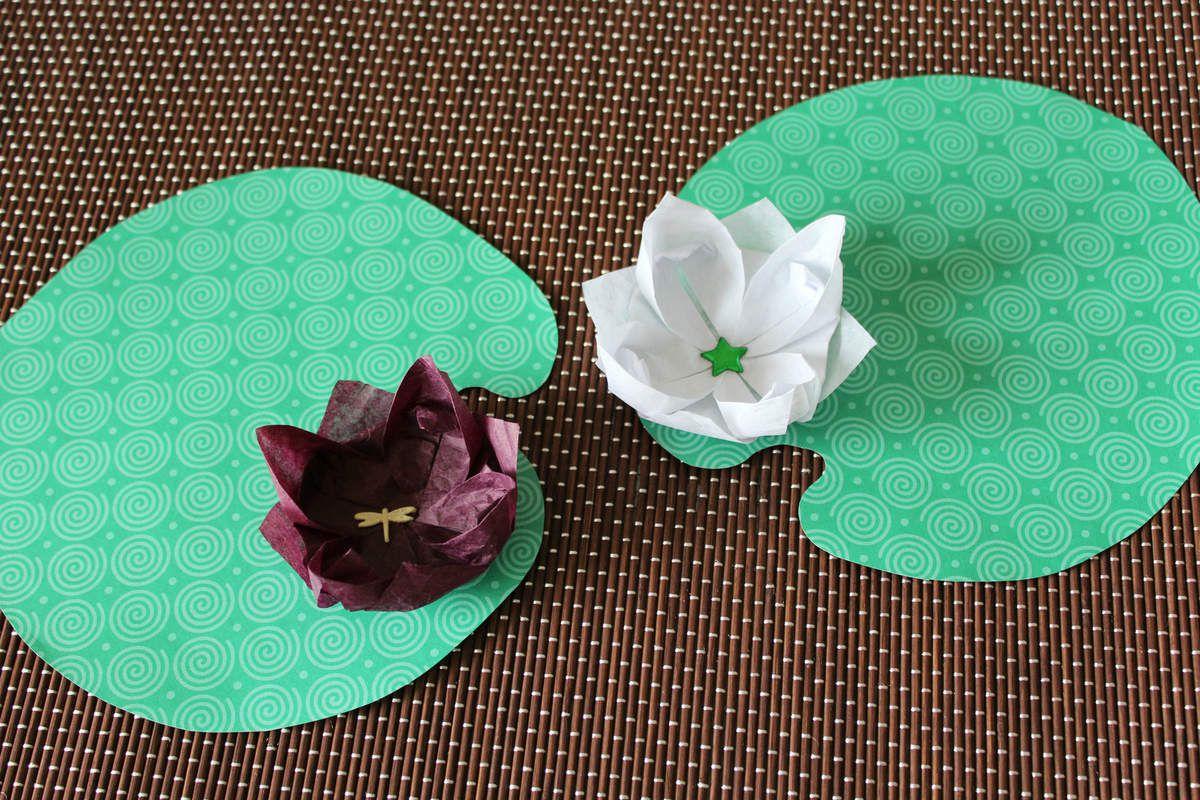 Centre de table en origami