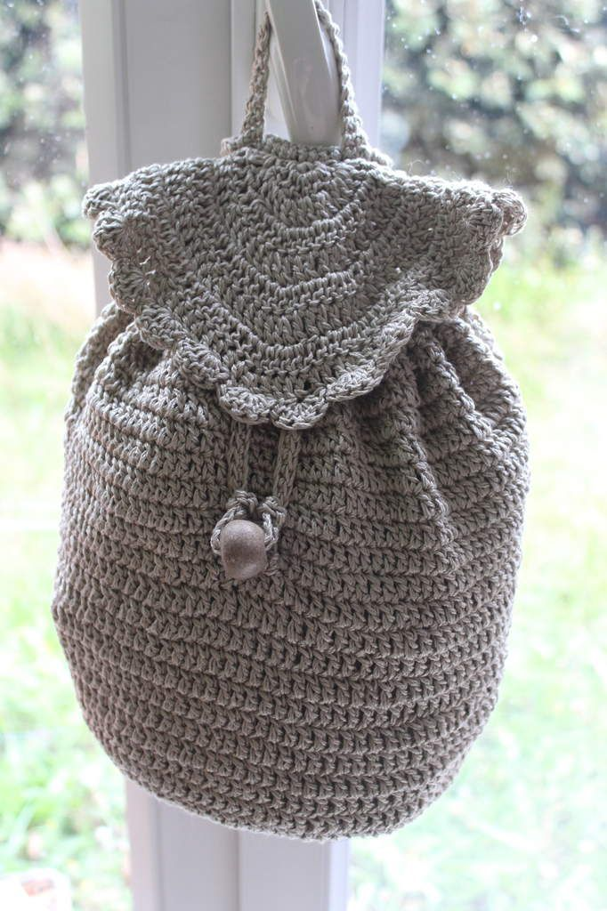Petit sac à dos au crochet