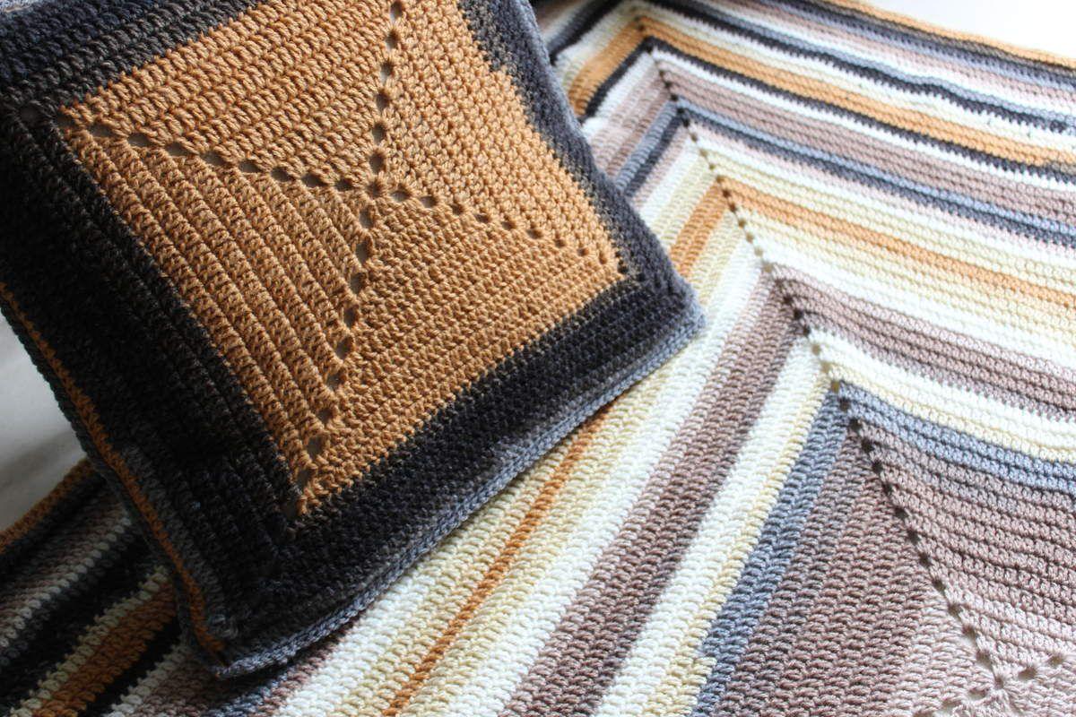 Plaid et coussin granny faciles au crochet