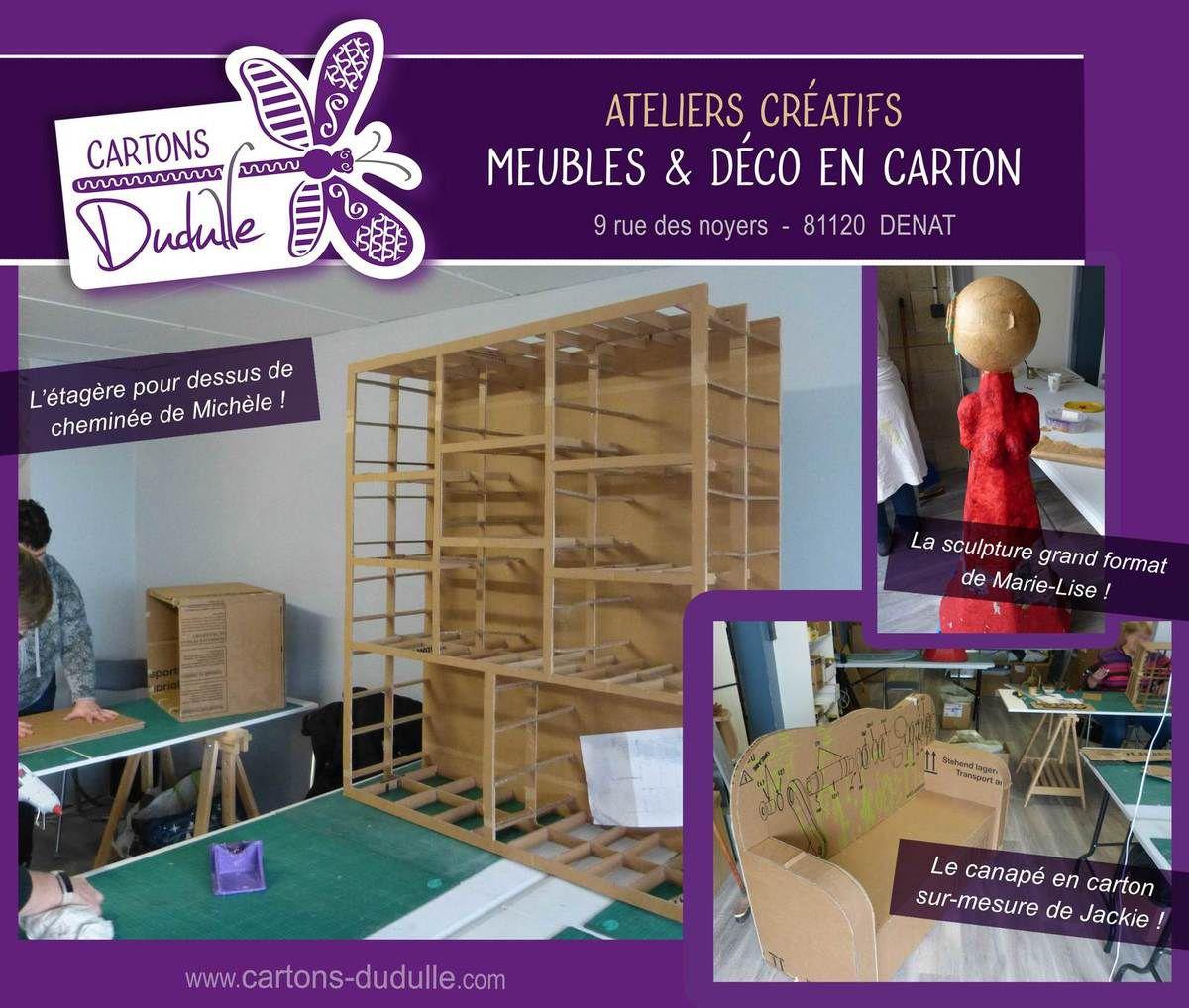 Meuble Pour Loisirs Créatifs atelier meuble et déco en carton et papier mâché chez