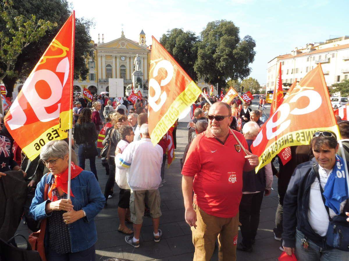 Manifestation contre la Loi Travail et les ordonnances Macron : Près d'un millier de salariés dans les rues de Nice ce 19 octobre