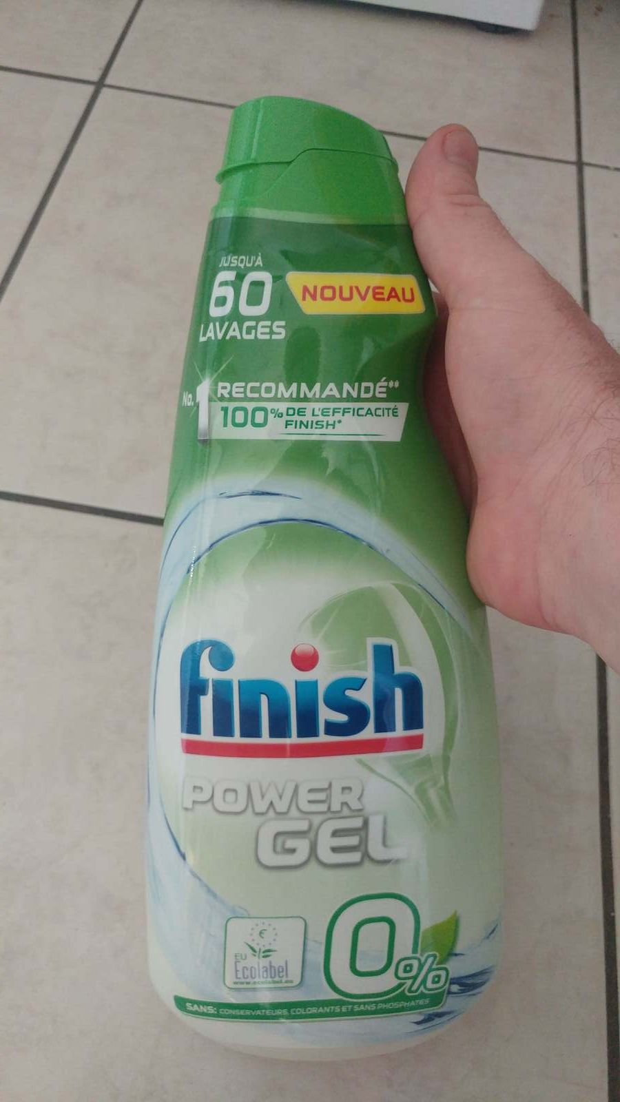 Finish power gel 0% écolabel