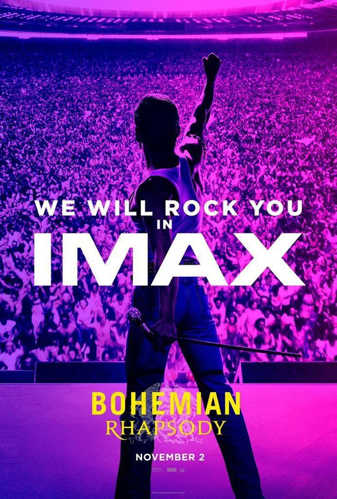 Bohemian Rhapsody (IMAX Laser 2D) de Bryan Singer avec Rami Malek, Gwylim Lee, Ben Hardy, Joseph Mazzello, Lucy Boynton, Tom Hollander, Aidan Gillen, Allen Leech, Aaron McCusker et Mike Myers.