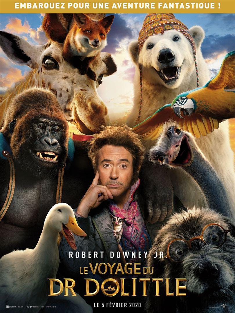 Le Voyage Du Dr Dolittle (4Dx 3D) de Stephen Gaghan avec Robert Downey Jr., Michael Sheen, Antonio Banderas, Jim Broadbent, Jessie Buckley, Harry Collett, Kasia Smutniak, Carmel Laniado