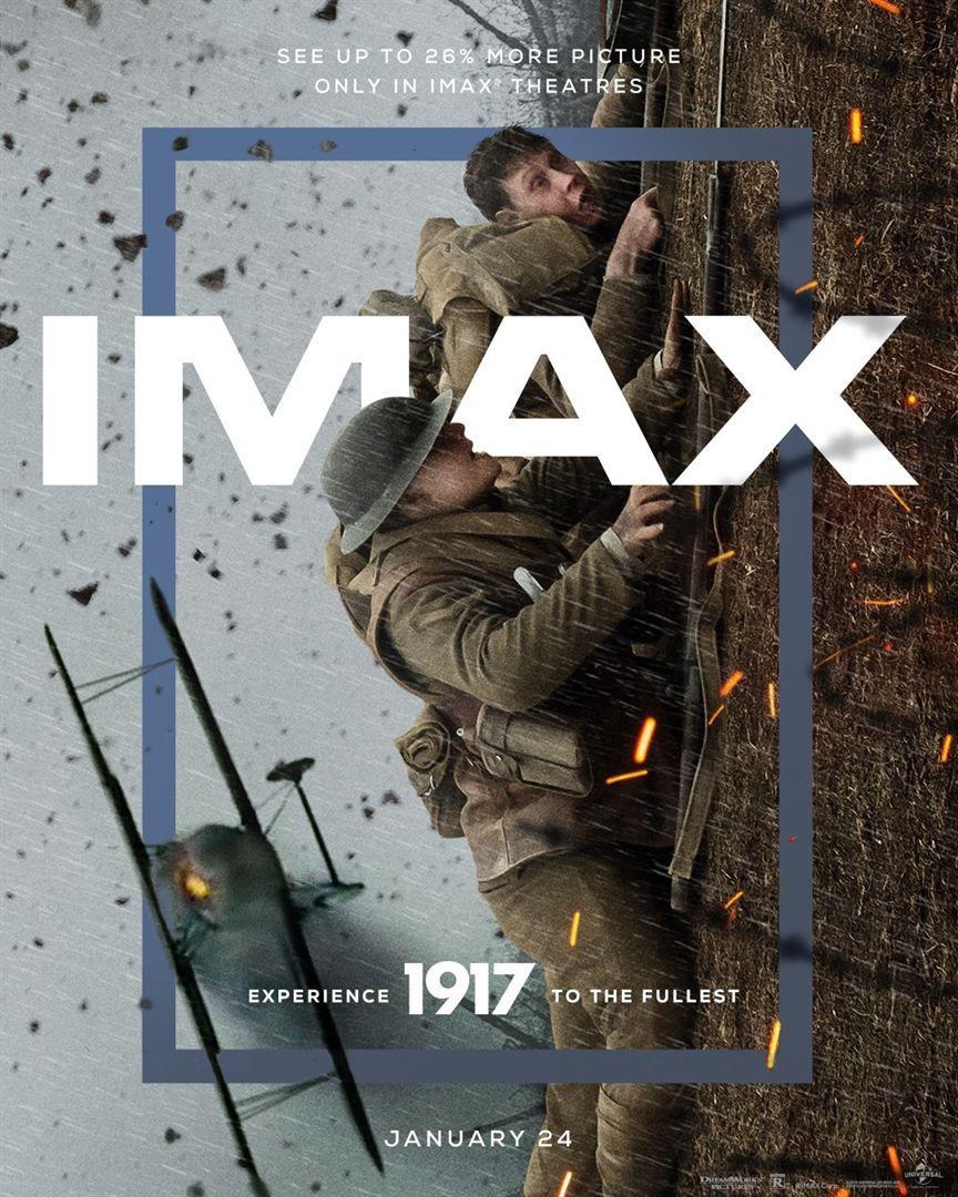 1917 (IMAX Laser) de Sam Mendes avec George MacKay, Dean-Charles Chapman, Mark Strong, Andrew Scott, Richard Madden, Claire Duburcq, Colin Firth et Benedict Cumberbatch.