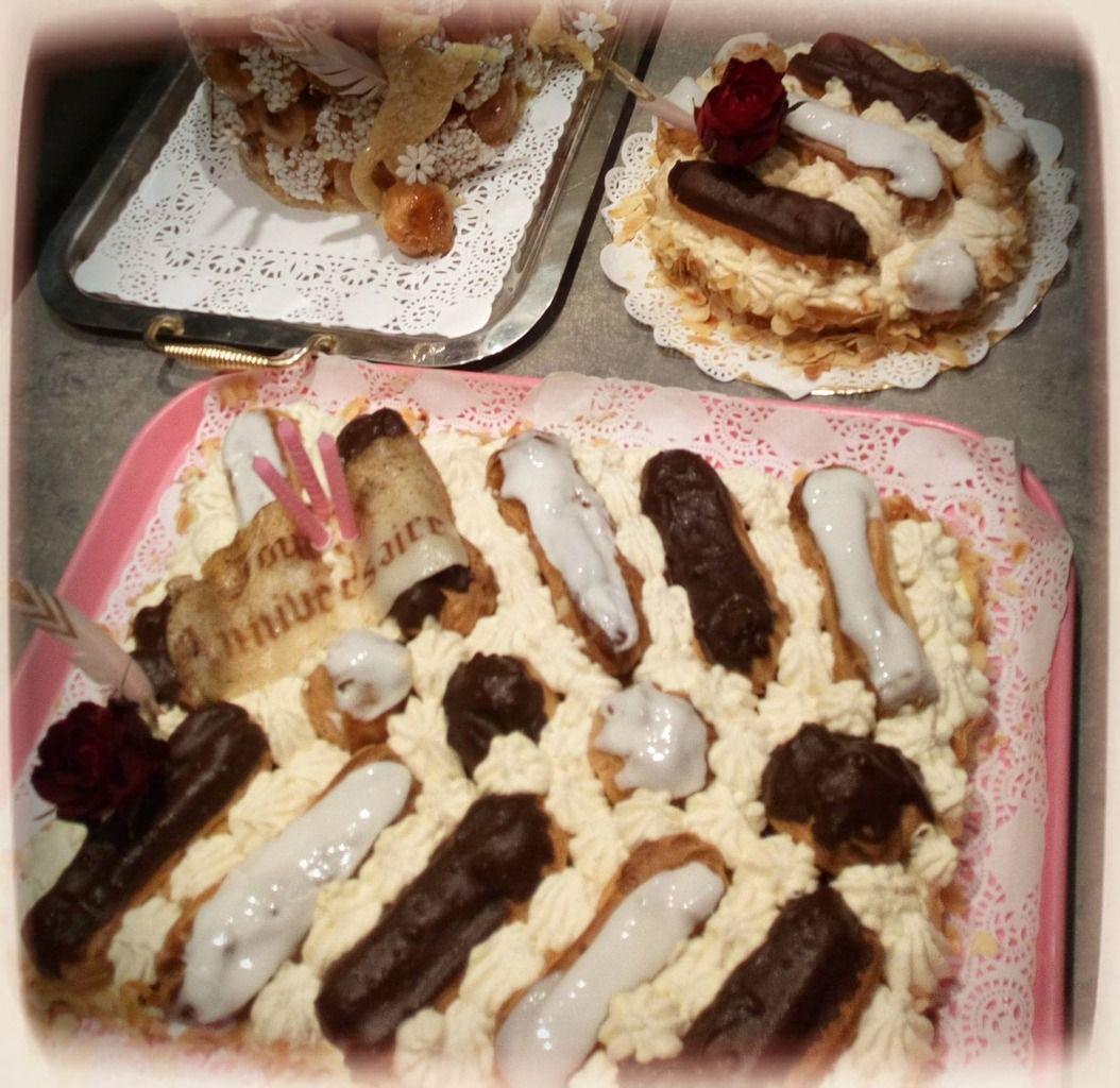 un gâteau très crémeux , délicat et doux . amateurs de la pâte à choux , il est pour vous ...