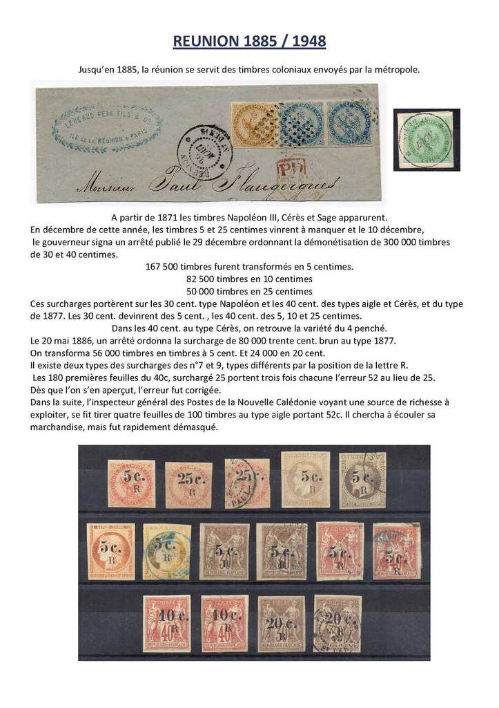 Ile de la réunion origine. Article 2   1885 - 1948