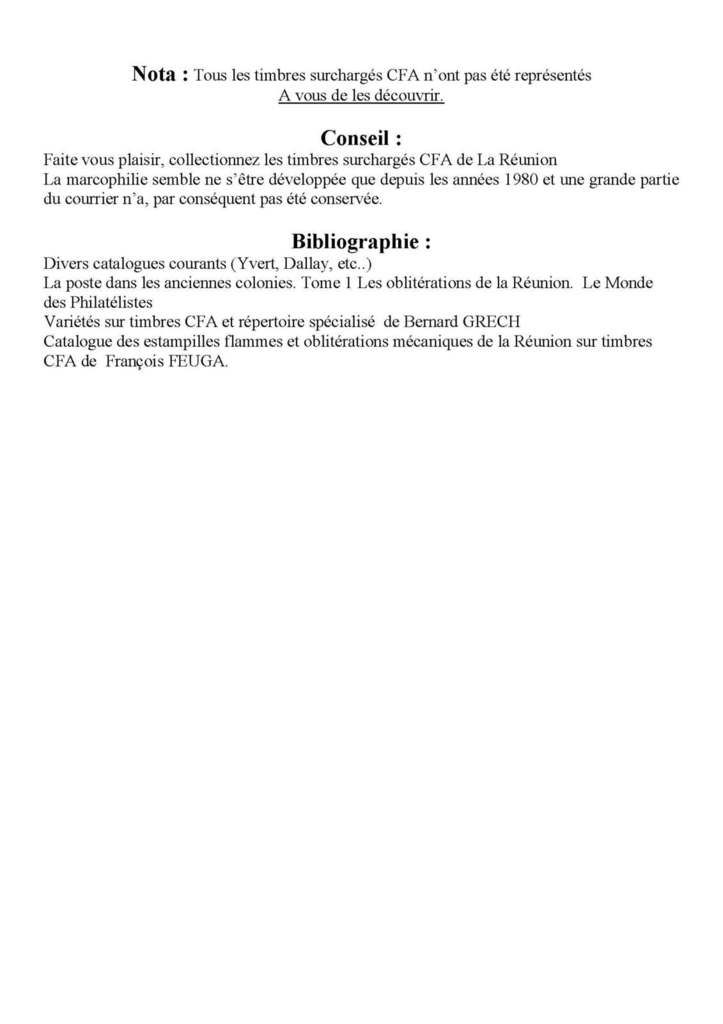 La REUNION CFA. Article 5