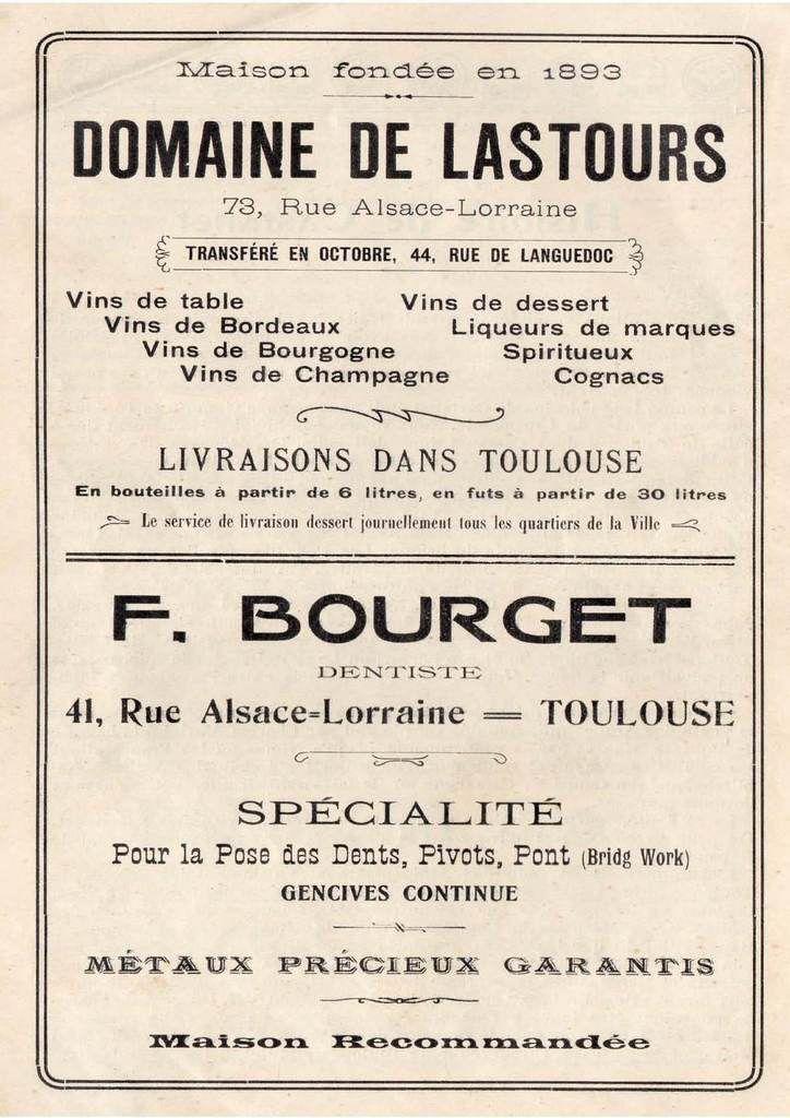 Livre-guide de Castanet-1912- 4ème partie