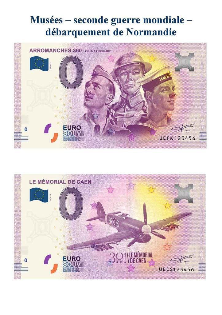 Les billets à zero EURO