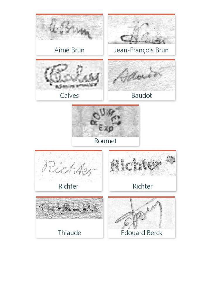 Petits et grands mystères des signatures au dos des timbres