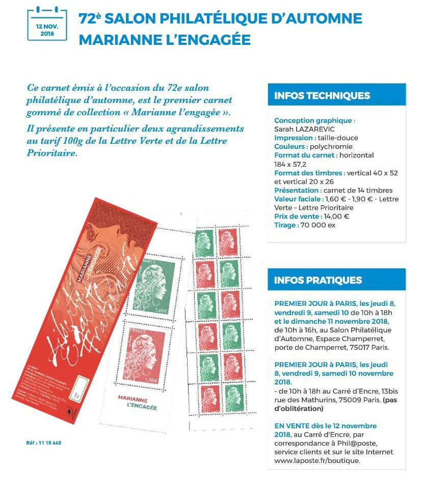 72eme SALON PHILATELIQUE D'AUTOMNE 6 MARIANNE L'ENGAGEE