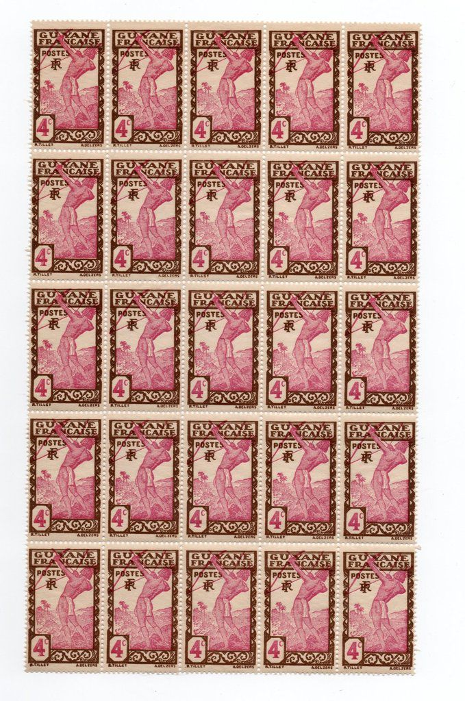 Timbres de collection en feuilles