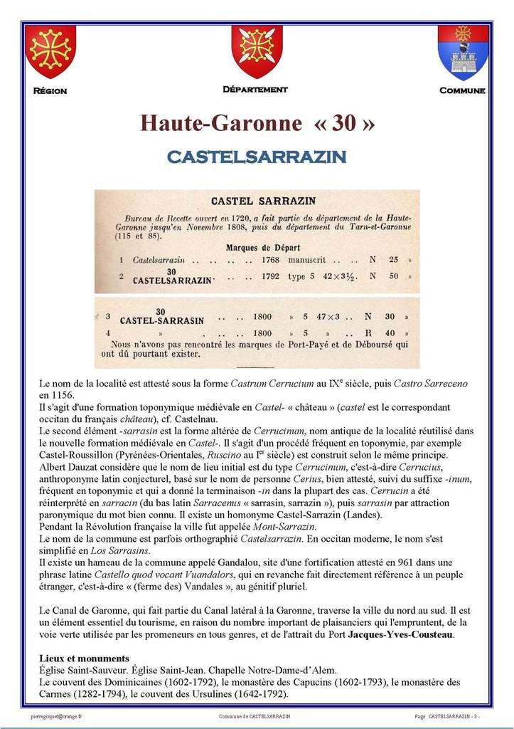 Castelsarrasin  115  85 puis 82