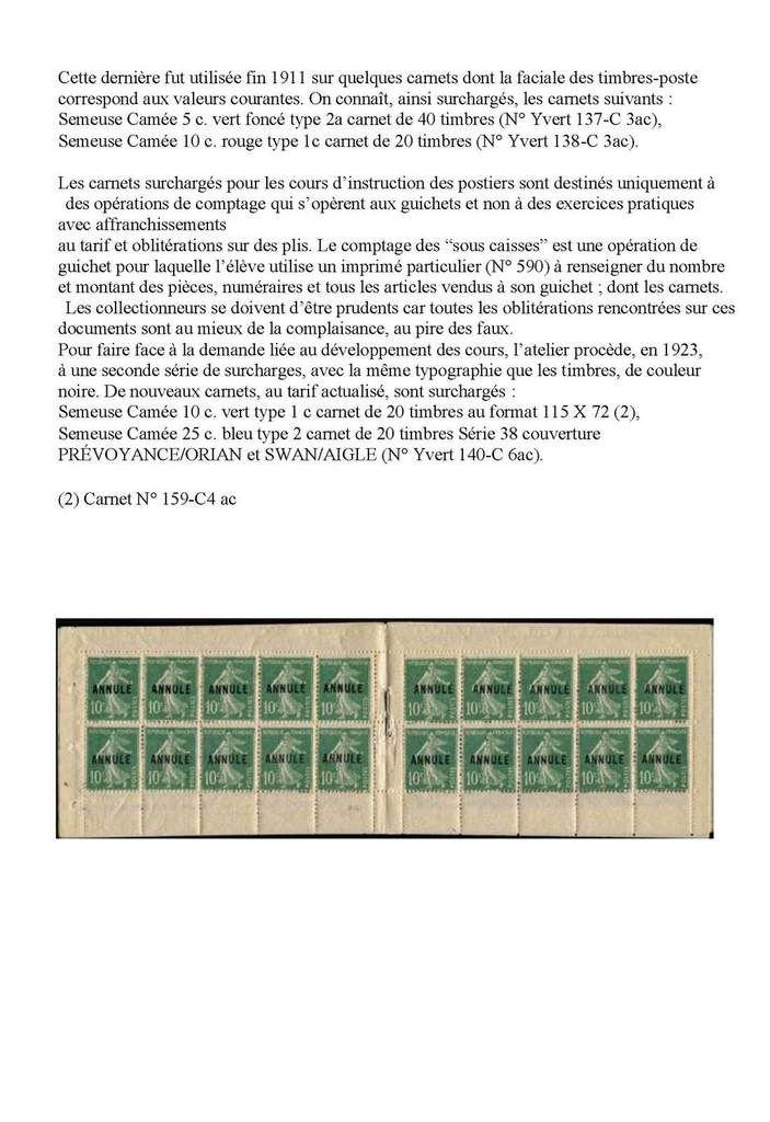 Carnet de timbres
