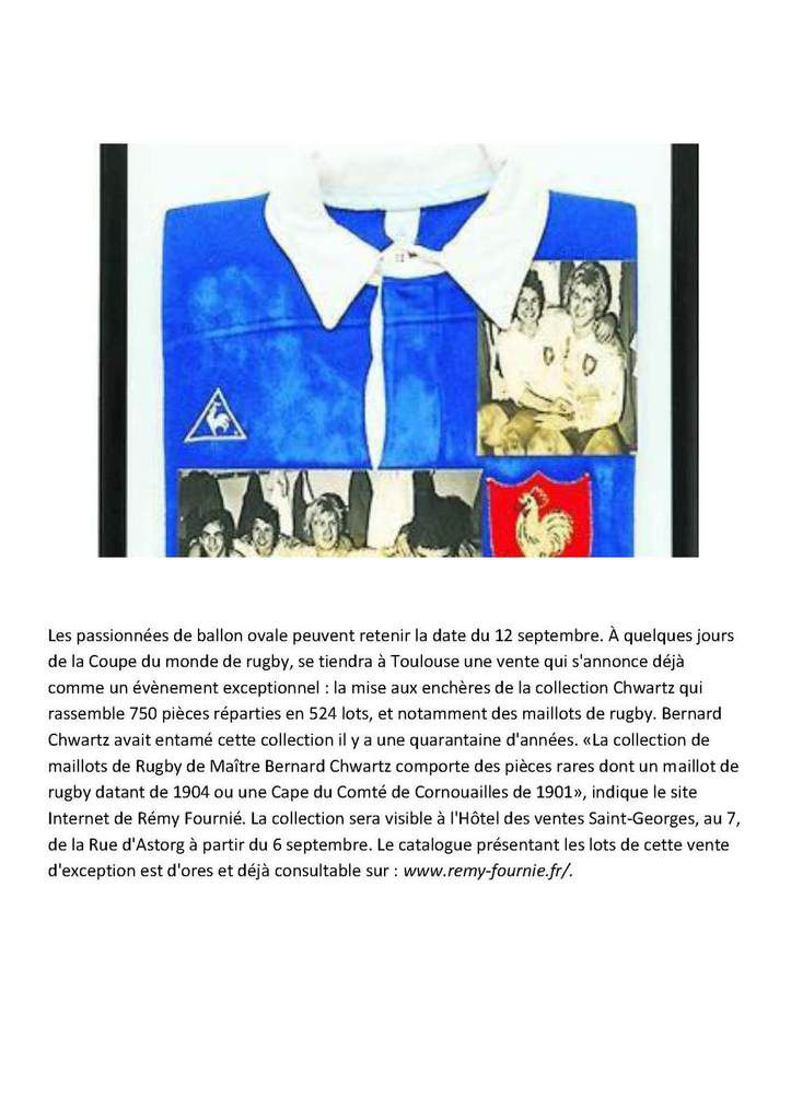Hugues Aufray  Rugby Bourses