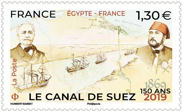 Programme philatélique 2019 Canal de Suez