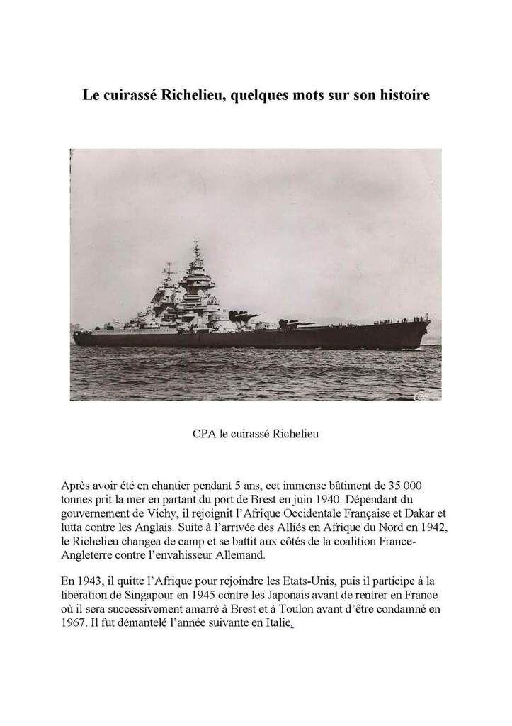 Philatélie Par avion Batiment de ligne Richelieu surcharge