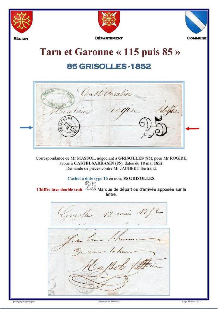 GRISOLLES Haute Garonne puis Tarn et Garonne