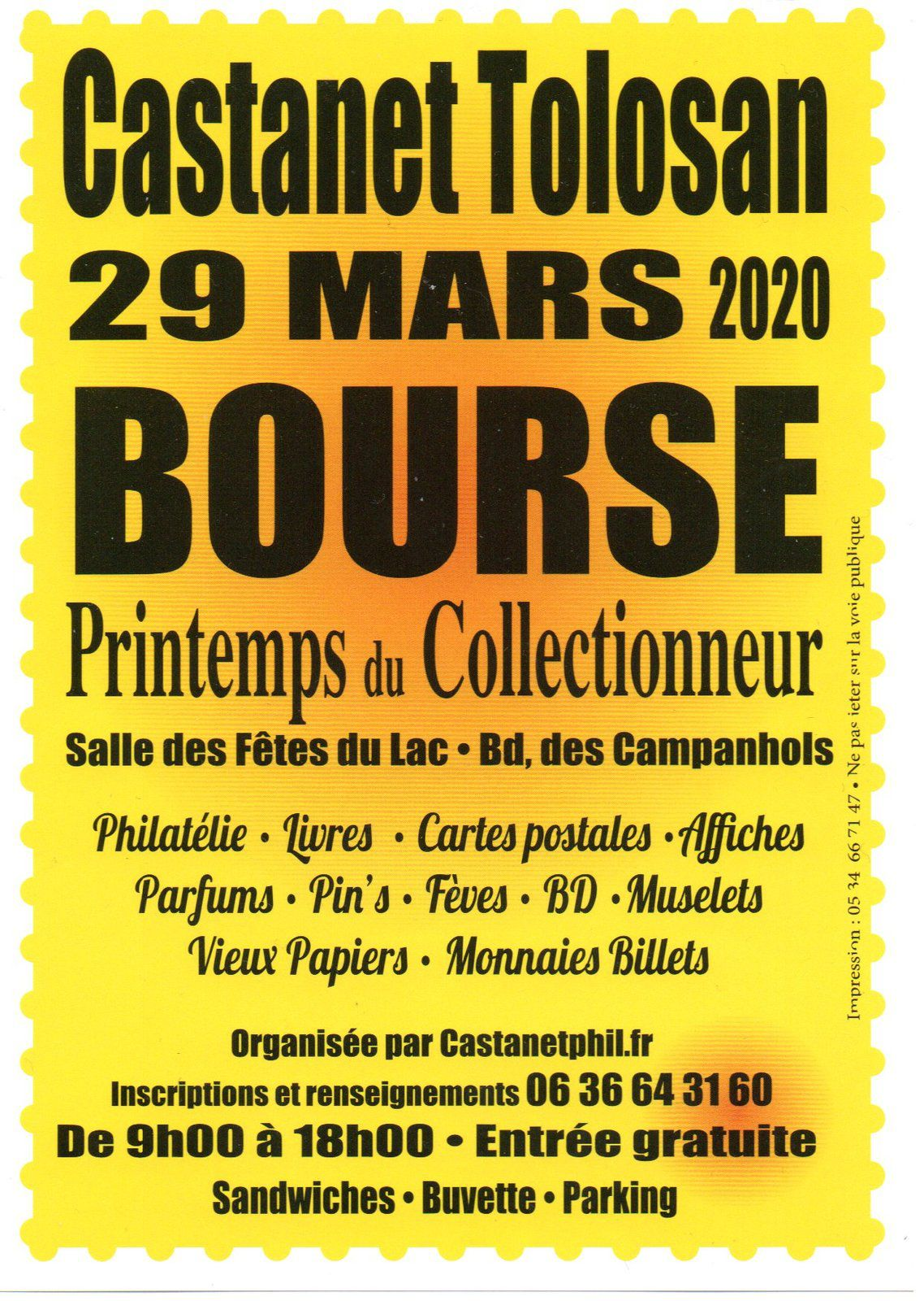 Bourse   Printemps du Collectionneur Castanet-Tolosan 31320