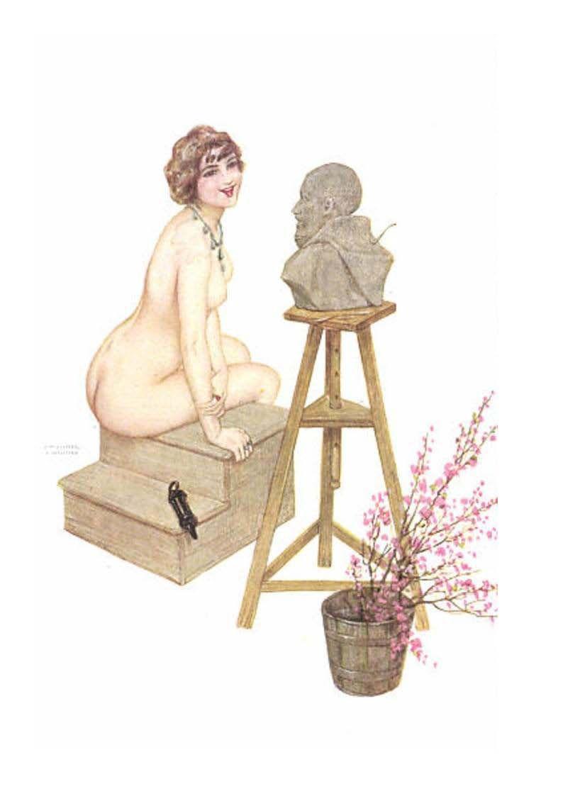 cartes postales avec Raphaël Kirchner et Alfons Mucha