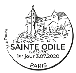 Programme philatélique  Sainte ODILE