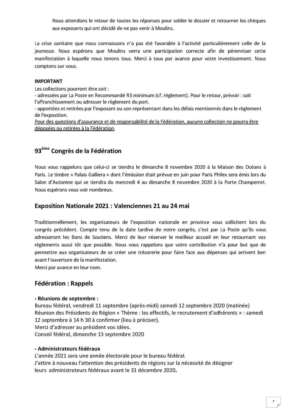 Bloc-Feuillet 93ème congrés Paris 2020 et infos