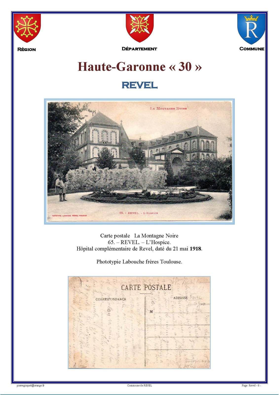 Marcophilie     la ville de Revel   Haute-Garonne
