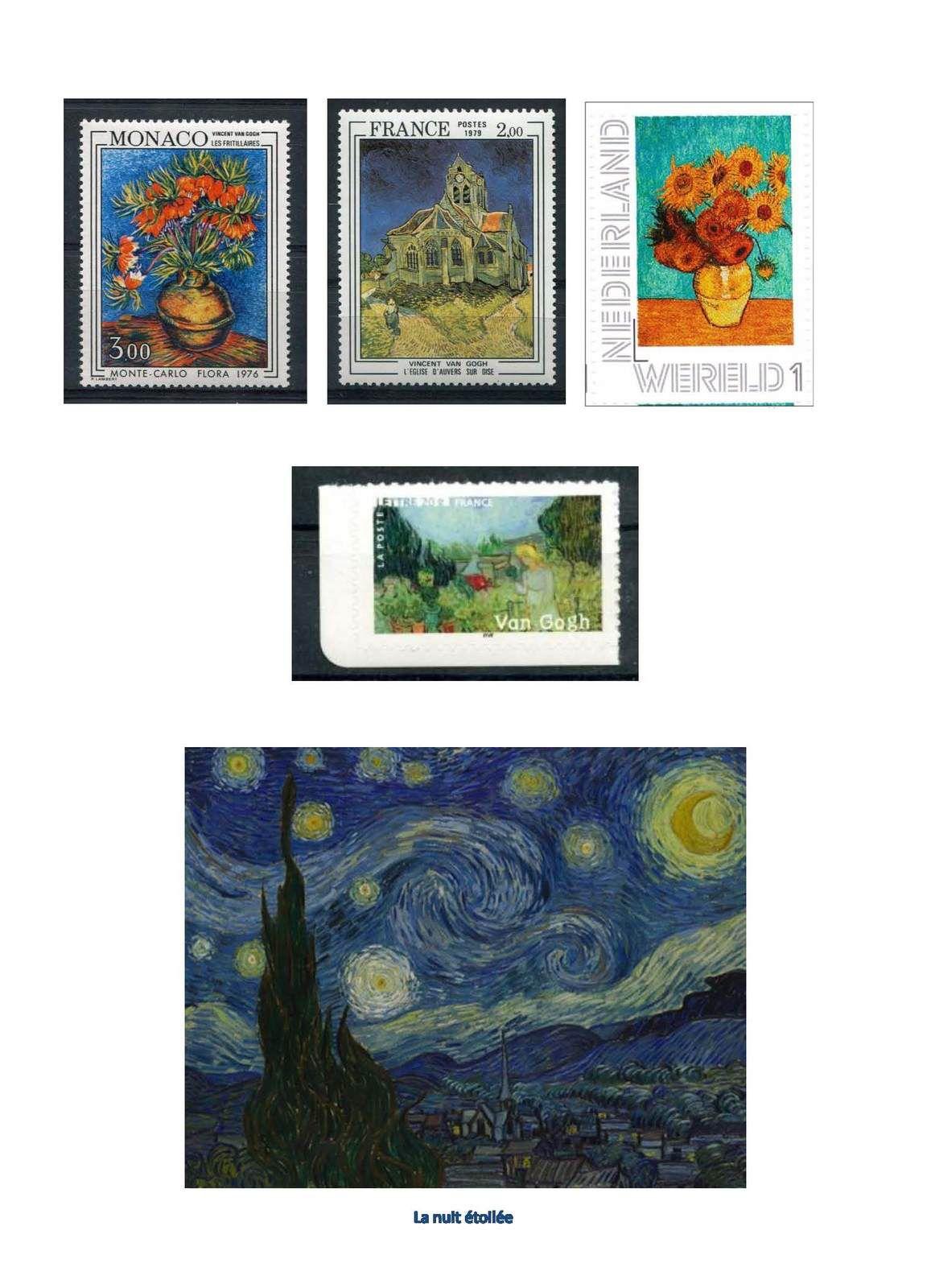 Cartophilie  Peinture Philatélie Van Gogh