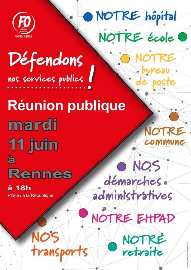 DÉFENDONS NOS SERVICES PUBLICS !