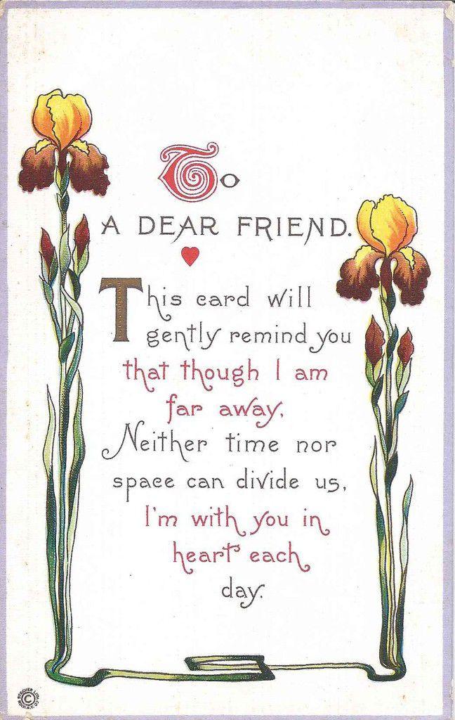 720 - To a dear Friend - illustration semblable à la carte n° 60 ci-dessous .